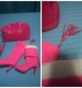 Сапоги зима + сумка новые