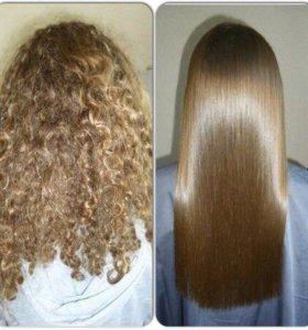 ЭКО объём волос  Кератиновое выпрямление волос