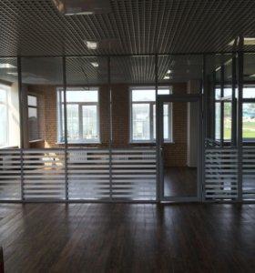 Алюминиевые перегородки и двери для офисов.