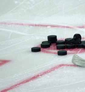 Шайбы хоккейные б/у. От 10 шт.