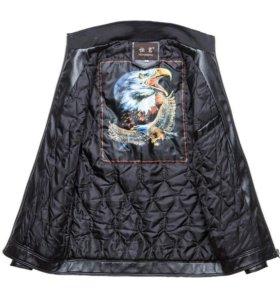 Кожаная куртка,  мужская