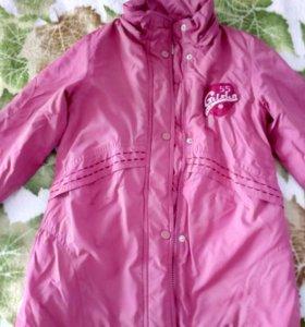 Пальто с жилетом.,рост 110 см.