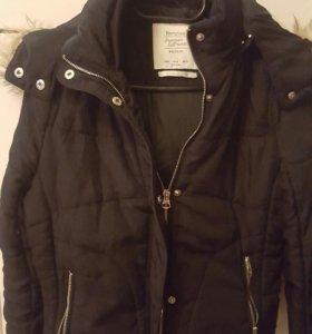 Куртка утепленная с большим капюшоном мех