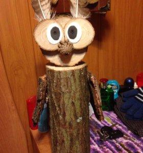 Сова поделка из дерева