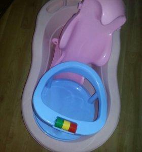 Ванна, стульчик, горка