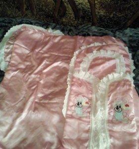 Конверт с одеялом для новорожденного