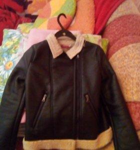 Куртка теплая, кожа заменитель