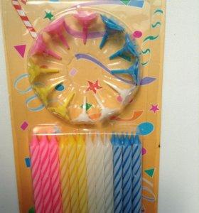 Свечи для торта 24 шт набор