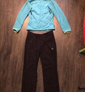 Флисовый брюки и толстовка adidas