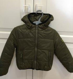 Детская утеплённая куртка весна-осень