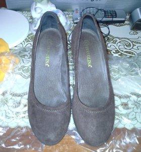 Туфли tervolina натуральная замша