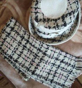 Комплект шарф и шляпа