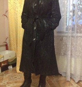Пальто из замши натуральной