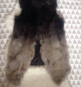 Натуральный мех енота новая меховая жилетка