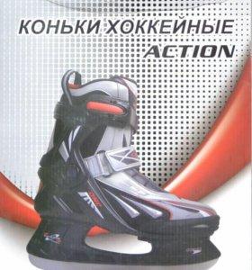 Коньки хоккейные ACTION PW-217BJ новые