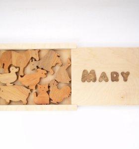 Набор игрушек из дерева новый