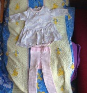 Платье с колготками 3-6М. Carters