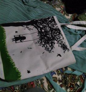Белая, летняя сумка