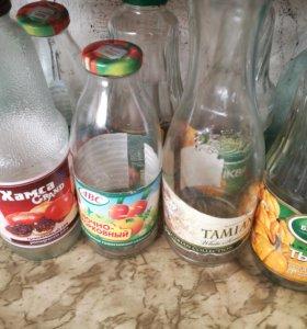 Бутылки и банки слеклянные
