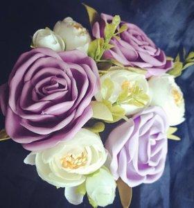 Цветы из фоамирана 🌹