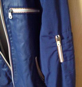 Куртка Армани демисезон. Кожа/текстиль