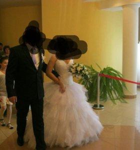 Свадебное лоскутное платье