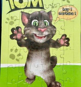 Пазлы детские Говорящий кот Том