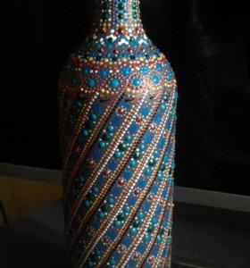 Декоративная бутылка.