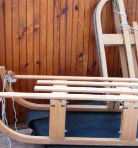 Санки - салазки деревянные складные