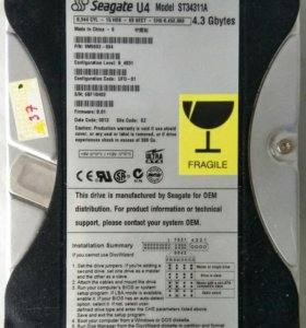 HDD Seagate ST34311A IDE