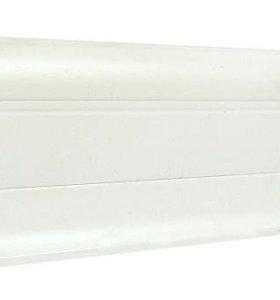 Плинтус ПВХ Boles В007,белый