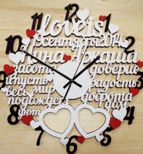 Часы из дерева ручной работы!