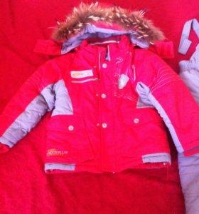 Детский зимний очень теплый костюм
