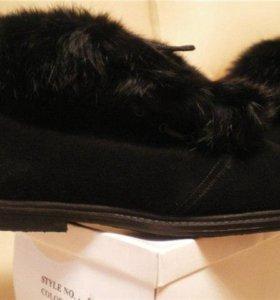 Замшевые Новые ботинки