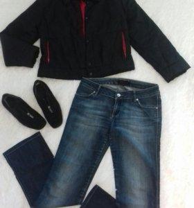 Куртка, джинсы и обувь
