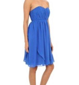 Коктейльное шифоновое платье