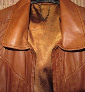 Куртка из натуральной кожи- Stradivarius