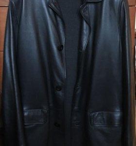 Пальто мужское кожаное демисезонное