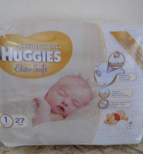 Памперсы Huggies elite soft 1 27 шт.