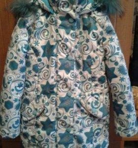Куртка зимняя для девочки р.122-128