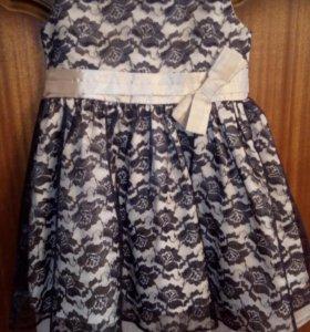 Нарядное платье 2-3г.