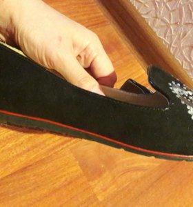 Обувь шикарная замшевая