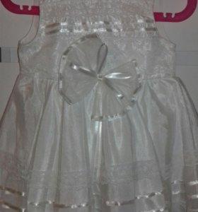 Платье праздничное с шубкой