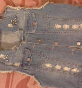 Жилет джинсовый новый