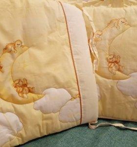 Комплект в кроватку Bombus новый 7 пр