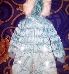 Пальто зимнее размер 110