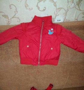 Комплект куртка и штанишки + шапочка