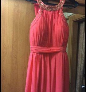 Вечернее платье, платье в пол, на выпускной
