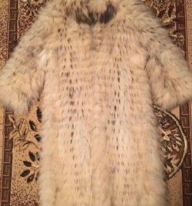 Срочно продам !!!Пальто из белой лисы