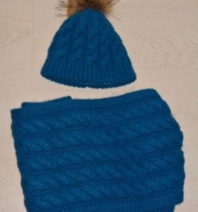 Набор (шапка+шарф хомут)